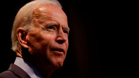 ALTOONA, IA - AUGUST 21:  Democratic presidential presidential candidate, former Vice President Joe Biden speaks at the Iowa Federation Labor Convention on August 21, 2019 in Altoona, Iowa. Candidates had 10 minutes each to address union members during the convention. The 2020 Democratic presidential Iowa caucuses will take place on Monday, February 3, 2020.(Photo by Joshua Lott/Getty Images)