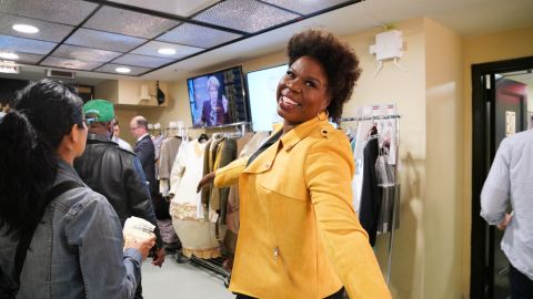 Leslie Jones, in character as Mrs. Chantay Thomas in May 2019, is leaving 'Saturday Night Live.'