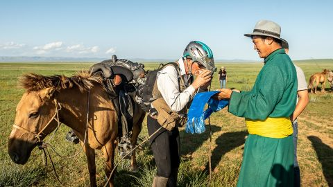 """Spending so much time alone in the Mongolian countryside proved to be a spiritual adventure. """"I believe in God and a higher power and it was really comforting for me to use that as a crutch to keep going,"""" he said."""