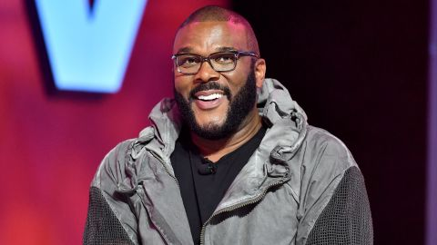 NEW ORLEANS, LOUISIANA - JULY 07: Tyler Perry speaks on stage at 2019 ESSENCE Festival Presented By Coca-Cola at Ernest N. Morial Convention Center on July 07, 2019 in New Orleans, Louisiana. (Photo by Paras Griffin/Getty Images for ESSENCE)