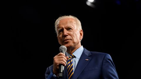 In this August 10, 2019 photo, democratic presidential candidate and former Vice President Joe Biden speaks on stage during a forum on gun safety in Des Moines, Iowa. The event was hosted by Everytown for Gun Safety.