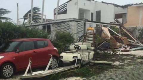 Dorian left heavy damage at this resort in Hope Town, Bahamas.