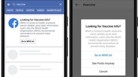 Pop-ups will share vaccine information from CDC and WHO on Facebook and Instagram.