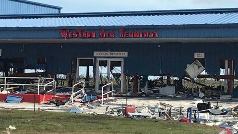 Debris litters the Grand Bahama International Airport on September 4.