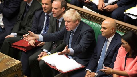 Boris Johnson during Prime Minister's Questions last week.