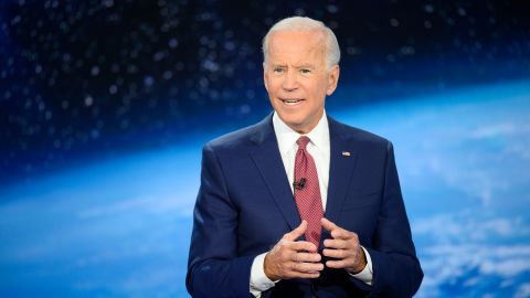 Democratic presidential candidate Joe Biden participates in CNN's climate crisis town hall in New York on September 4, 2019.