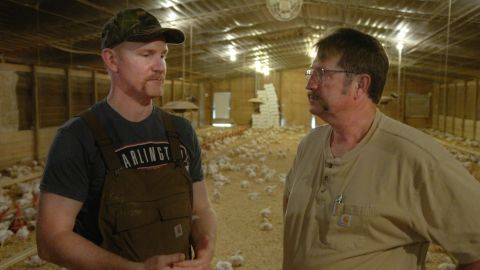 Morgan Spurlock and Jonathan Buttram in 'Super Size Me 2: Holy Chicken!'