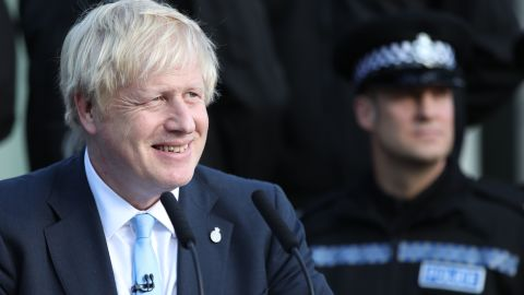 Britain's Prime Minister Boris Johnson gives a speech during a visit with the police in West Yorkshire, northern England, on September 5, 2019. - UK Prime Minister Boris Johnson called Thursday for an early election after a flurry of parliamentary votes tore up his hardline Brexit strategy and left him without a majority. Johnson was on a campaign footing on September 5 as he launched a national effort to recruit 20,000 police officers in Yorkshire in northern England. (Photo by Danny Lawson / POOL / AFP)        (Photo credit should read DANNY LAWSON/AFP/Getty Images)