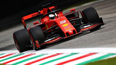 Sebastian Vettel was fastest during the final F1 practice session in Monza.