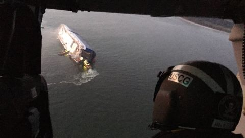 Coast Guard crews and port partners respond to a disabled cargo vessel.