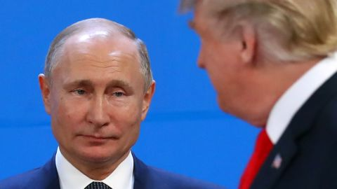Russia's President Vladimir Putin and U.S. President Donald Trump are seen during the G20 summit in Buenos Aires, Argentina November 30, 2018.