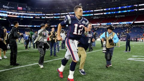 Tom Brady is in a contract year, but he says he plans to play until he's 45.
