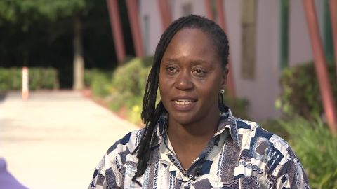 Natasha Harvey spoke to CNN's Rosa Flores about Hurricane Dorian and its aftermath.