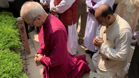 The Archbishop paid tribute to the victims at a moving ceremony.