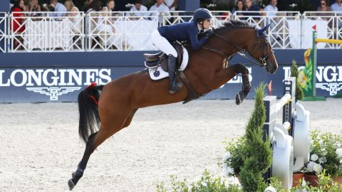 <strong>Saint-Tropez:</strong> Jessica Springsteen rode RMF Zecilie to her very first individual victory on the Global Champions Tour.