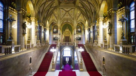 <strong>Budapest: </strong>The Hungarian Parliament Building is a neo-Gothic monolith behemoth sitting on the banks of the River Danube. It was designed by Imre Steindl and opened in 1902. <br />