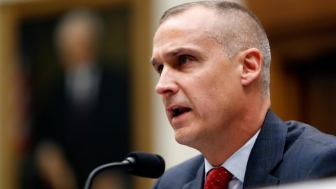 Corey Lewandowski, the former campaign manager for President Donald Trump, testifies to the House Judiciary Committee on Tuesday in Washington.