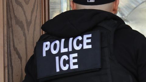 File image of an ICE officer