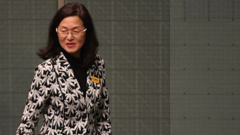 CANBERRA, AUSTRALIA - SEPTEMBER 12: Liberal backbencher Gladys Liu arrives at Question Time at Parliament House on September 12, 2019 in Canberra, Australia. Gladys Liu is under scrutiny over her association with bodies linked to the Chinese government. Liu confirmed on Wednesday that she was an honorary member of the Guangdong provincial chapter of the China Overseas Exchange Association between 2003 and 2015. (Photo by Tracey Nearmy/Getty Images)