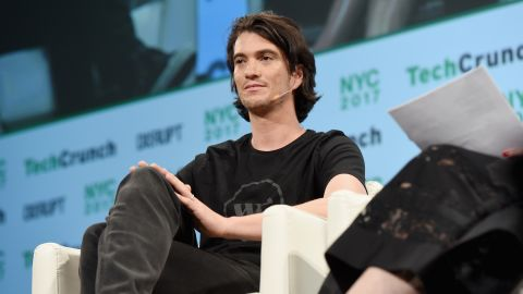 NEW YORK, NY - MAY 15:  Co-Founder and CEO of WeWork Adam Neumann onstage during TechCrunch Disrupt NY 2017  at Pier 36 on May 15, 2017 in New York City.  (Photo by Noam Galai/Getty Images for TechCrunch)