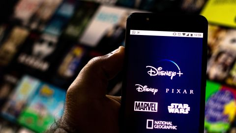 BRAZIL - 2019/08/20: In this photo illustration the Disney+ (Plus) logo is seen displayed on a smartphone. (Photo Illustration by Rafael Henrique/SOPA Images/LightRocket via Getty Images)