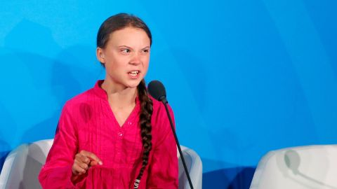 Environmental activist Greta Thunberg, of Sweden, addresses the Climate Action Summit in the United Nations General Assembly, at U.N. headquarters, Monday, September 23, 2019.