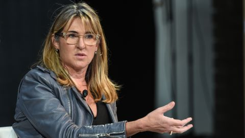 Nancy Dubuc, CEO of Vice Media, speaks at the New York Times DealBook conference on November 1, 2018 in New York City. (Photo by Stephanie Keith/Getty Images)