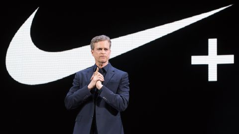 NEW YORK, NY - MARCH 16:  Nike President and CEO Mark Parker speaks during the 2016 Nike New Innovations Debut at Skylight at Moynihan Station on March 16, 2016 in New York City.  (Photo by Mike Pont/WireImage)