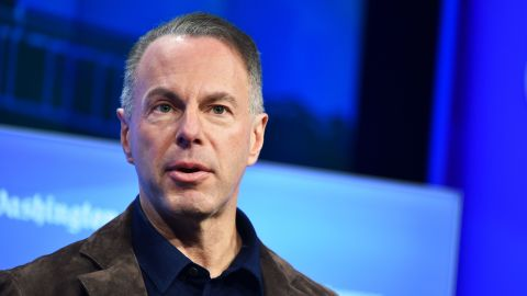 Devin Wenig, seen here, is stepping down as the CEO of eBay as the company continues to weigh selling off businesses.