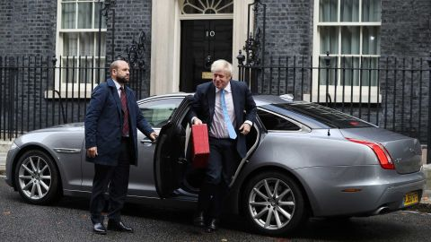Prime Minister Boris Johnson arrives at 10 Downing Street as MPs return to Parliament.