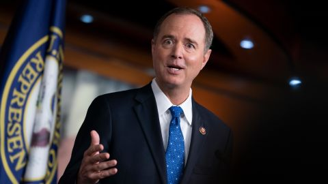 House Intelligence Committee Chairman Adam Schiff, a California Democrat, speaks at the Capitol in Washington earlier this week.