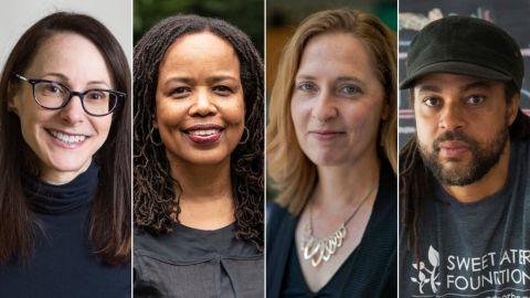 "Four of the 26 MacArthur ""genius"" grantees, from left: Danielle Citron, Saidiya Hartman, Andrea Dutton and Emmanuel Pratt"