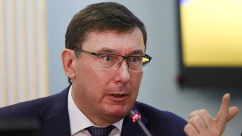 Yuriy Lutsenko speaks during a briefing at the Central Election Commission in Kiev, Ukraine earlier this year.