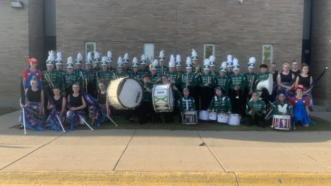 The Forest Area Marching Band played at Glen Lake High School's Friday night football game.