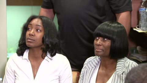 Yvonne Pinkston and the boy's grandmother, Hope Pinkston, spoke at their attorney's office about the boy's ordeal.