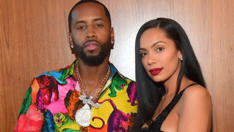 SANDY SPRINGS, GEORGIA - AUGUST 29: Safaree Samuels and Erica Mena attend The 2019 BMI R&B/Hip-Hop Awards at Sandy Springs Performing Arts Center on August 29, 2019 in Sandy Springs, Georgia(Photo by Prince Williams/Wireimage)