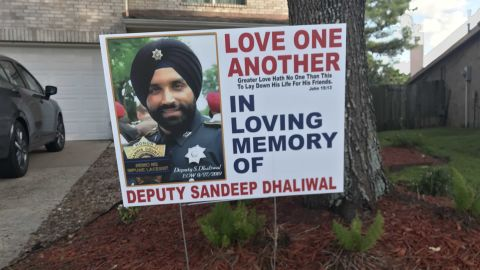 This tribute to Dhaliwal can be seen in yards all over northwest Houston.