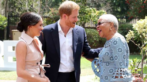 Harry and Meghan met with Graca Machel, widow of the late Nelson Mandela, on their final day of their official royal tour to southern Africa.