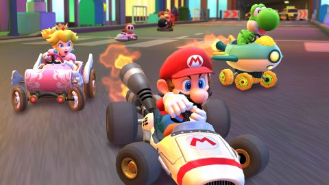 """Players can compete with characters like Mario and Princess Peach in the new mobile game """"Mario Kart Tour."""""""