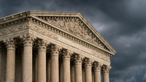 The Supreme Court is seen under stormy skies in Washington, June 20, 2019.