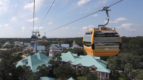 Walt Disney World's Skyliner carries visitors between hotels and parks.