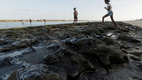Brazil's navy and the state-controlled oil company Petrobas concluded that the oil was produced abroad.