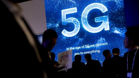 5G technology logo during the celebration of Mobile World Congress in Barcelona on February 25, 2019 in Barcelona, Catalonia, Spain. (Photo by Miquel Llop/NurPhoto via Getty Images)