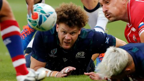 Scotland continued its push for a spot in the World Cup quarterfinals with a bonus-point 61-0 win over Russia in Shizuoka.