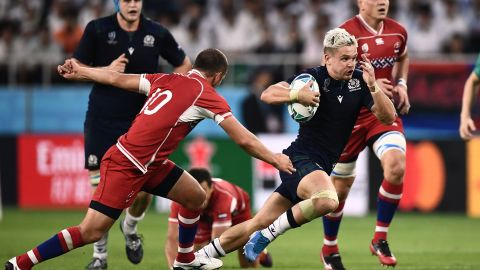 Scotland's win sets up a titanic clash against hosts Japan Sunday, with Scotland needing another bonus-point win to qualify for the quarterfinals.