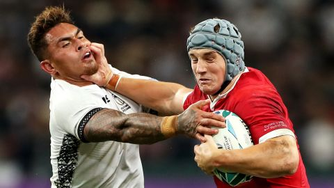 Three key Wales players -- Josh Adams, Dan Biggar and Jonathan Davies -- all went off injured during the game and are doubts for the rest of the World Cup.