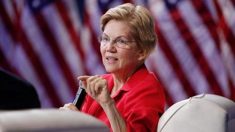 In this October 2 photo, Democratic presidential candidate Sen. Elizabeth Warren, D-Mass., speaks during a gun safety forum in Las Vegas.