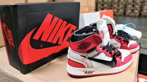 Counterfeit versions of iconic Nike shoes were seized by US Customs and Border Protection.