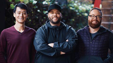 Chroma Stories founders Alex Li (left), Joshua Harris and John Barnett.
