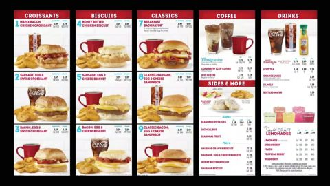 Wendy's new breakfast menu will roll out in the first quarter of 2020.